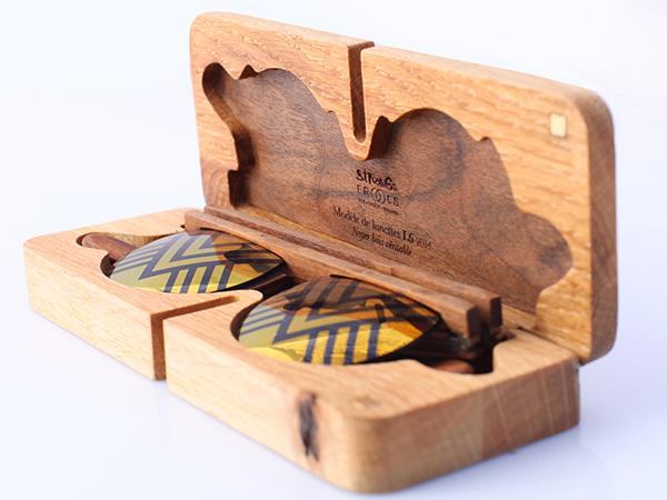 lunettes en bois L6 fait main série limité STRANGE FROOTS