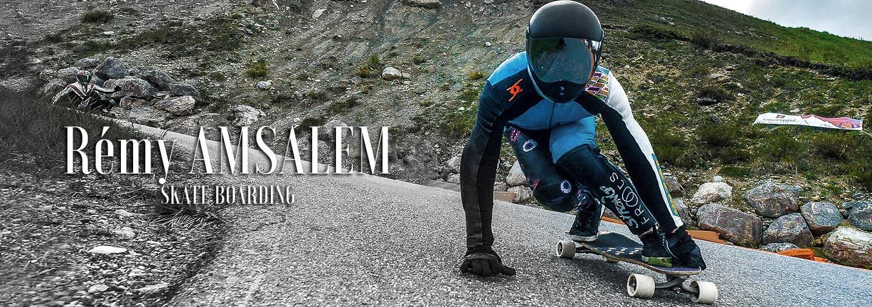 REMY AMSALEM - Skate board - Long board - FRANCE - STRANGE FROOTS