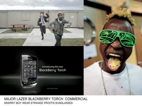 STRANGE FROOTS x BLACKBERRY TORCH avec MAJOR LAZER