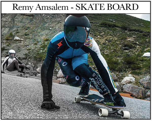 Remy AMSALEM - Strange Froots SKATE BOARD - Long Board