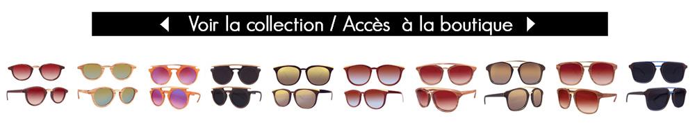 STRANGE FROOTS Collection Hylé lunettes en bois et métal fais main pièce unique