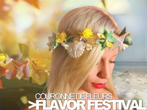 FLAVOR FESTIVAL – Couronnes de fleurs faits main papier, cuir, coquillage et fleurs séchées