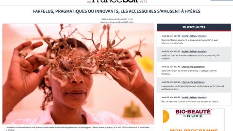FRANCE SOIR – focus sur le 32eme festival de mode de hyeres